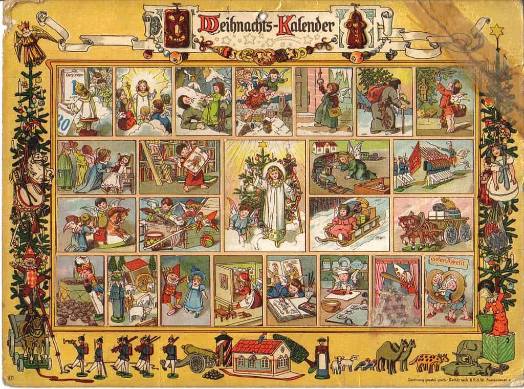 Gemälde eines Adventskalenders