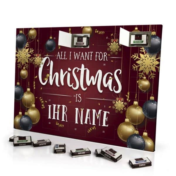 """All I want for Christmas…""-Adventskalender mit Namen"