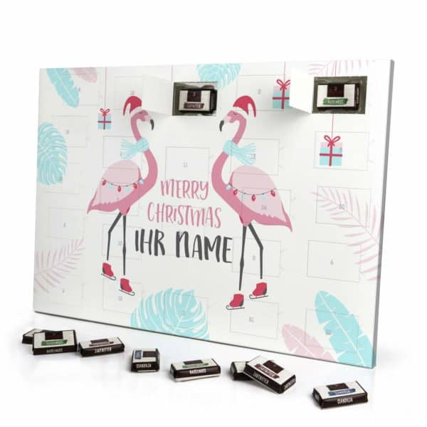 Flamingo-Adventskalender mit Name
