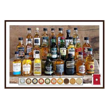 Adventskalender mit Whisky-Miniaturen und Schokolade