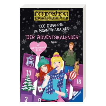 """Buch-Adventskalender """"1000 Gefahren im Schneeparadies"""" 2019"""