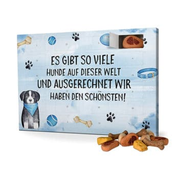 Hunde-Adventskalender mit Spruch