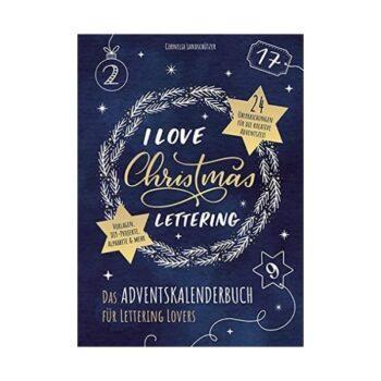 """Handlettering Adventskalender """"I Love Christmas Lettering"""""""