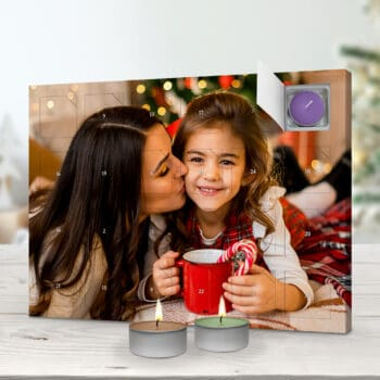 Foto-Adventskalender mit Duftkerzen